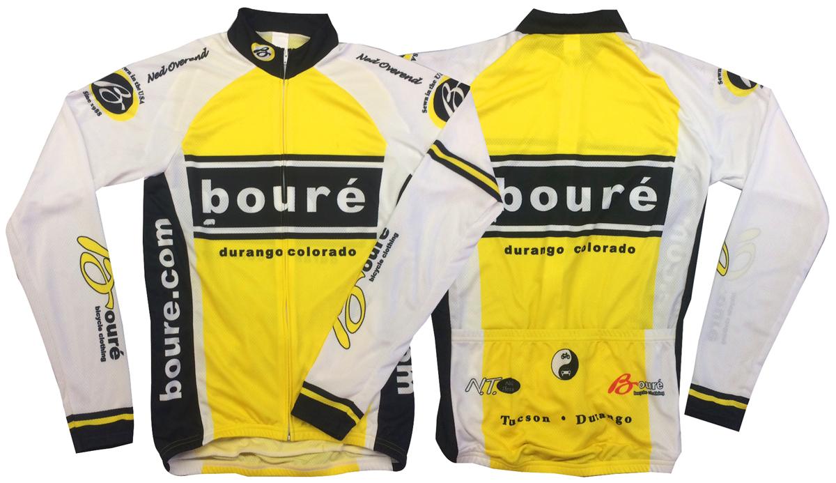 Bouré Team UPF-28 Full-Zip Long Sleeve Cycling Jersey - Bouré ... c3e565ea5